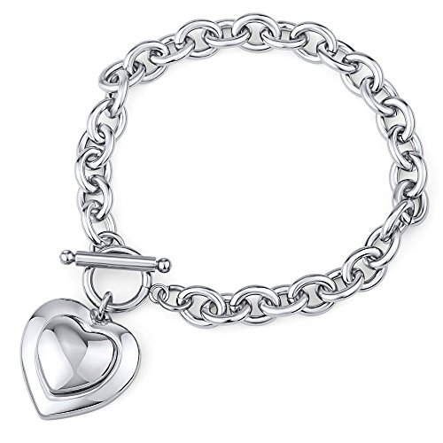 Damen Armband Edelstahl mit Herz Länge 20 cm