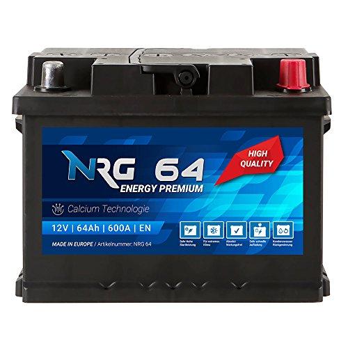 Preisvergleich Produktbild NRG Premium Autobatterie 12V 64Ah ersetzt 55AH 56AH 60AH 61AH 62AH 63AH Batterie