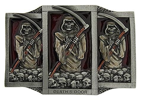Boucle de ceinture Deaths Door, en un de mes présentation en coffrets.