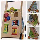 Lauflernwagen Laufwagen Lauflernhilfe Holz Baby Walker Spielzeug