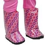 Springfield Colección por fibre-craft–Rosa y morado floral botas de lluvia–compatible con todas las muñecas–mezclar y combinar–para niños de 4y hasta