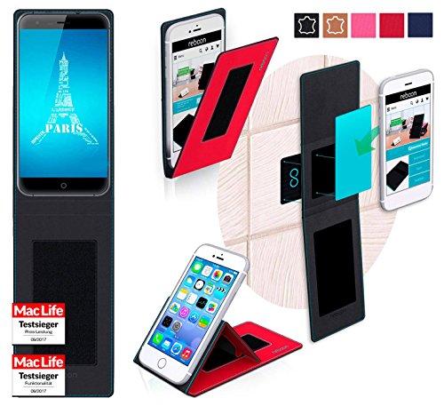reboon Hülle für Ulefone Paris Tasche Cover Case Bumper | Rot | Testsieger