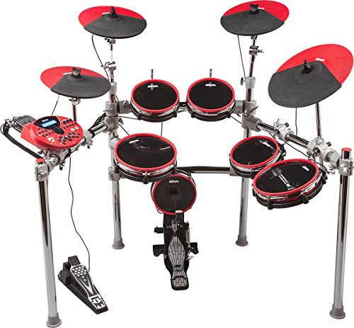 ddrum DD5X elektronische 6  DrumSet inkl. Dual Zone Tom Pad 20,3 cm (8 Zoll), Dual Zone Tom Pad 25,4 cm (10 Zoll), Dual Zone Snare Pad 25,4 cm (10 Zoll), Bass Drum Pad 20,3 cm (8 Zoll)
