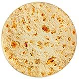 Fuloon Runde Decke, 180cm Neuheits Burrito Tortilla Decke EIN Riesiger Menschlicher Burrito, Tortilla Throw, Food Creation Wrap, Weiches Plüsch-Riesentuch Für Erwachsene Und Kinder(71 inch)