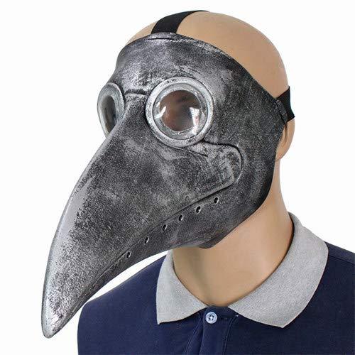 MASKUOY Halloween-Maske Ärzte Maske Latex Klar Harz Linsen Schnabel Gesichtsmasken Für Halloween Steampunk Kostüm Party - Klar Gesichtsmaske Kostüm