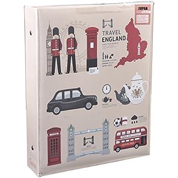 Arpan Large London Icons Design Self Adhesive 3-Ring Binder Photo Album 40 Sheets/80 Sides by ARPAN