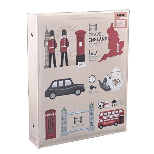 Arpan Fotoalbum LONDON ICONS Design selbstklebend 3Ring Binder Fotoalbum, 40Blatt/80Seiten (3 Seite Binder)
