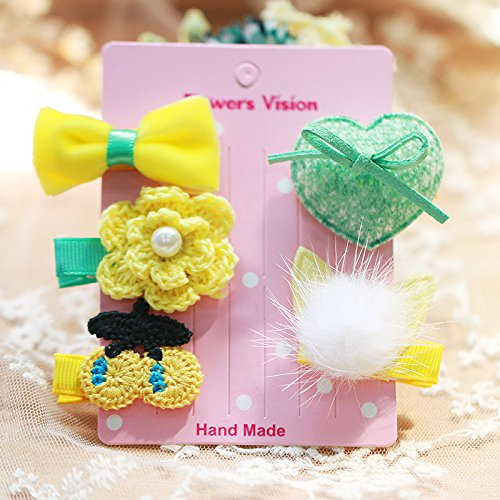 Tlue Tathtub Süße Kinder Haarschmuck Haarnadel Tuch Cute Cartoon Kante Clip Liu Haijia Anzug Girl Kopfschmuck, Acht, Die Gelbe Katze Hat 5 Ohren