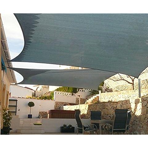 Rettangolo all' aperto uv tenda parasole da giardino parasole ombra a vela impermeabile HDPE (3.6* 3.6m), Sonnensegel, Weißer Reis, 3*4M