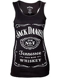 Meroncourt Jack Daniel's Logo Tanktop, Canottiera Donna