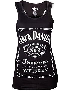 Meroncourt Jack Daniel'S Logo Tanktop, Camiseta Sin Mangas Para Mujer