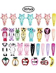 Frcolor Haarspange für Mädchen, Cartoonentwurf, mit Metallschnappverschluss, 25 Stück