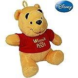 Disney Winnie Pooh Plüsch Bär 14cm, als Schmusetier oder Anhänger // Puuh Teddy Schlüssel Anhänger 14cm Tasche Jacke