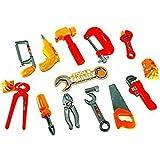 [Sponsored]Elite Enterprises Tool Set Toys For Kids, (Set Of 14 Pcs) Pretend Play Set, Little Engineer Pretend Toolkit Construction Tools, Role Play Engineer Workshop Tool Kit For Children