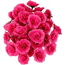 50pcs Falsa Seda Rosa Artificial Cabezas De Las Flores A Granel De La Decoración Del Banquete De Boda Color De Rosa