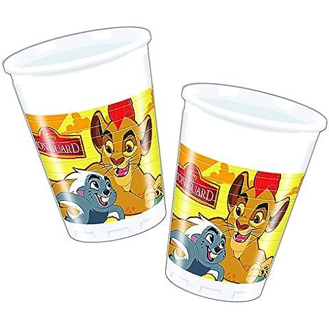 8 Tazas EL REY LEÓN de Disney para Cumpleaños niños o Fiesta temática fiesta Vaso de fiesta Tazas de papel Cups Motto el León GUARDIA Simba Kian Nala Timon Pumba Mufasa Zazu áspero