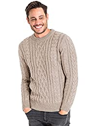 WoolOvers Pull irlandais - Homme - Pure Laine