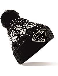 Diamond Aztec Bobble Hat Beanie