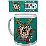 Looney Tunes - Taz Christmas Mug Taza Foto (9 x 8cm)