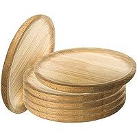 Ruibal - Platos para Pulpo de Madera - Set de 6 - Ø 20 cm