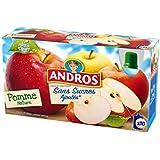 Andros Compotes Dessert Fruitier Sans Sucre Ajoutées, Pomme Nature - ( Prix Par Unité ) - Envoi Rapide Et Soignée