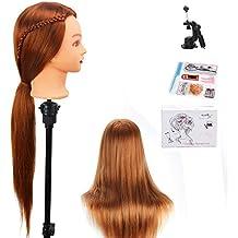 Beautystar 75cm Yaki sintético pelo peluquería maniquí de entrenamiento cabeza de maniquí con abrazadera soporte y regalos