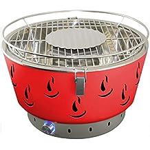 ACTIVA Barbacoa carbón Vegetal Barbacoa Heiss Aire sin Humo con ventilación airbroil Rojo