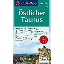 Östlicher Taunus: 4in1 Wanderkarte 1:50000 mit Aktiv Guide und Detailkarten inklusive Karte zur offline Verwendung in der KOMPASS-App. Fahrradfahren. (KOMPASS-Wanderkarten, Band 840)