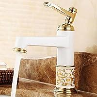 SLT - in stile europeo di rame controsoffitti antichi rubinetto del bacino caldo e freddo lavabo singola maniglia foro americano rubinetto di ceramica blu e bianco