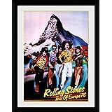 1art1 100255 Rolling Stones - Tour 76 Gerahmtes Poster Für Fans Und Sammler 40 x 30 cm