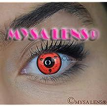 """Lente de contacto de color fantasía Crazy Lens Cosplay """"Mysa Lens®"""" ojos Naruto Sharingan sazuke 12meses sin Correction"""