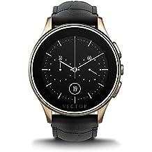 Vector Luna Smartwatch con Cinturino in Coccodrillo, Champagne Oro/Nero