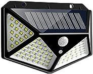 Solar Motion Sensor Lights, Womdee IP65 Waterproof Solar Light Outdoor with 270 Degree Lighting Angle, 100 LED