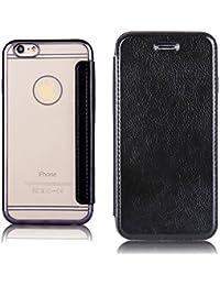 Funda tipo folio para móvil, de Sycode. De TPU y silicona con acabado espejo. Para iPhone 5 y 5S. Tapa suave y carcasa dura transparente y muy fina. Protege tu móvil. Oro rosa