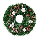 Kransen 16/20 Inch De Kroon van Kerstmis for Window & Advent Handcraft metalen ring frame met rode Berry & Evergreen Leaf Wreaths- Ideaal Winter Decorating for binnen- en buitengebruik slingers