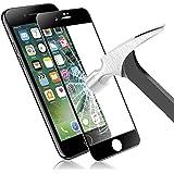 Verre Trempé iPhone 8, Orlegol Protection écran iPhone 8 Film Protection Anti-Scratch écran Protecteur 9H Dureté HD Vitre Tempered pour iPhone 7/iPhone 8 Glass Screen Protector - Noir
