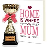 TiedRibbons Mother's day gift Greeting Card with Golden Trophy