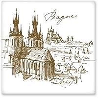 Azulejos cuadrados de cerámica para decoración de baño, cocina, azulejos de cerámica, de la República Checa de Praga