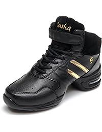 HIPPOSEUS Zapatos modernos de la danza del jazz/zapatillas de deporte/zapatos elegantes de la danza para las señoras de las mujeres,Modelo ESB51