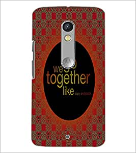 PrintDhaba Quote D-4992 Back Case Cover for MOTOROLA MOTO X PLAY (Multi-Coloured)