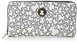 Tous Billetera Mediana Kaos Mini, Cartera para Mujer, (Beige), 2x11x19.5 cm (W x H x L)