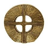 Hochwertiges - durchbrochenes - Bronze Kreuz zum Hinstellen, 9 cm Durchmesser