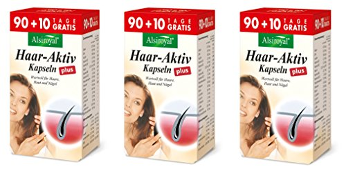 Alsiroyal 3 x Alsiroyal Haar-Aktiv plus 90 + 10 Kapseln N...