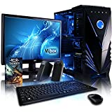 "VIBOX Shock Wave Desktop Gaming PC Package 9 - with Windows 10 OS, WarThunder Game Bundle, 22"" Monitor, Speakers, Keyboard & Mouse (4.0GHz AMD FX Quad Core Processor, Nvidia Geforce GTX 960 Graphics Card, 2TB Hard Drive, 16GB RAM)"