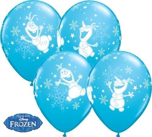 Disney Eiskönigin Olaf Tanzende 27.9cm Qualatex Latexballons x 10