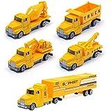 YIMORE Camiones de Construcción Car Model Vehículos de Mini Coches Juguetes Set para Niños 3 4 5 Años (5 Pedazos)