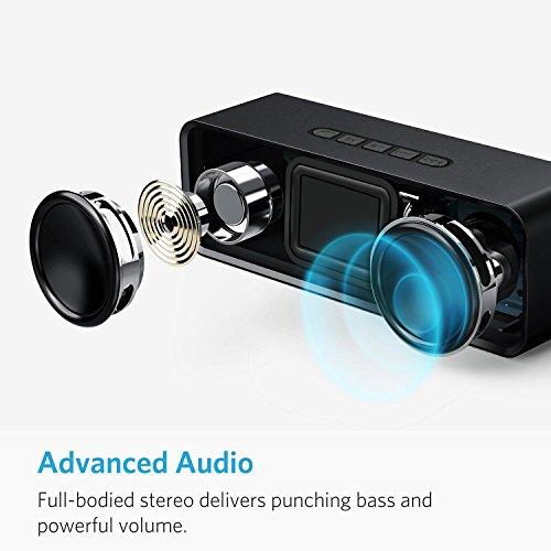 Altoparlante Bluetooth 5.0 Senza Fili Muzili Doppia Stereo Cassa Portatile Speaker Tempo di Riproduzione di 10 Ore, Scheda TF Supporto Ingresso Aux-In Compatibilità per iPhone Android e Tablet PC