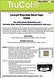 5 Blatt Wasserschiebefolie Decal Papier Transfer Folie DIN A4 weiss für Laserdrucker Kopierer WEIßE Folie wasserabschiebefolie Transferfolie Transferpapier