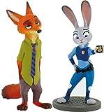 Disney Zootrópolis - Bullyland Set Judy Hopps + Nick Wilde Talla 8 - 10 cm