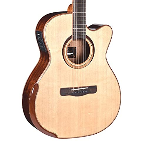 Merida Cardenas C-35OMCEH Electro-Acoustic Guitar, Orchestra Cutaway, Solid Spruce / Mahogany with Armrest